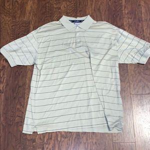 Men's George Strait Cowboy Striped Polo Sz XL